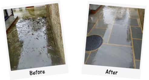 Patio Cleaning Before and After